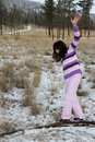 Free Playing In Snow Stock Photo - 20866140