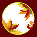 Free Abstract Autumn Leaves With Bird Background Stock Photography - 20866992