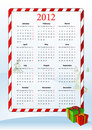Free Vector Illustration Of European Calendar 2012 Royalty Free Stock Image - 20869166