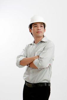 Free Architect Young Engineer Portrait Stock Image - 20860511
