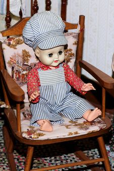 Child S Antique Doll Stock Photos