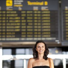 Free Attractive Woman Waiting At The Airport Royalty Free Stock Photo - 20860625