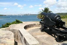 Free Sydney Harbour Cannon Royalty Free Stock Photography - 20862167