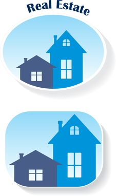 Free Real Estate (icons), Vector Illustration Royalty Free Stock Image - 20862306