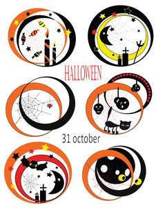 Free Halloween Set Icons Stock Photo - 20862760