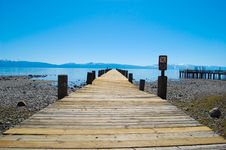 Free Lake Tahoe Crooked Public Dock Stock Photography - 20863082