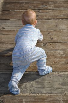 Free Child Playing On Dock Stock Image - 20863111