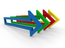 Free 3d Arrow Blue Yellow Green Red Royalty Free Stock Photography - 20863137