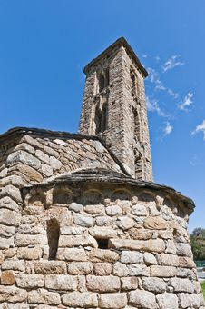 Free Sant Miquel Church At Engolasters, Andorra Stock Photography - 20863422