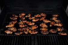 Free Barbequed Chicken On The Grill Stock Photo - 20863620