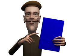 Free Teacher Demand Critical Attention On Certain Book Stock Photo - 20863760