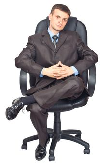 Free Portrait Of Young Businessmen Sitting On Chair Stock Photography - 20863822