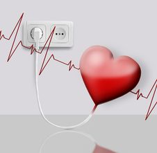 Free Heart Electric Stock Image - 20863981