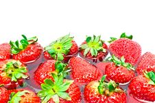 Free Group Of Red Strawberries Stock Photos - 20864393