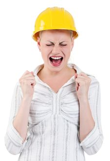 Free Girl With Hard Hat Stock Images - 20864784