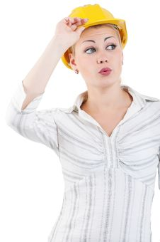 Free Girl With Hard Hat Stock Images - 20864824