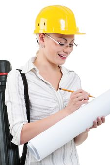 Free Girl With Hard Hat Stock Image - 20864901