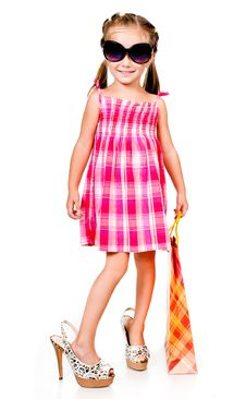 Free Little Girl With The Package Stock Photo - 20864950