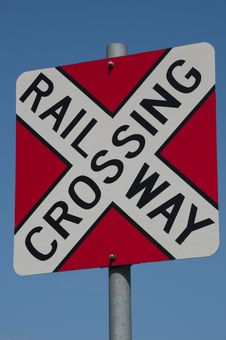 Free Railroad Crossing Sign Royalty Free Stock Image - 20864956
