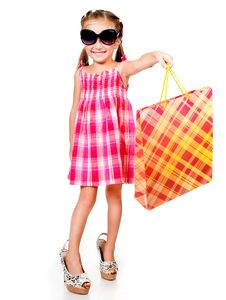 Free Little Girl With The Package Royalty Free Stock Images - 20864979
