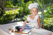 Cute Little Cook Royalty Free Stock Image