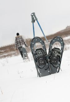 Free Snowshoeing In The Winter In Calgary, Alberta Royalty Free Stock Photo - 20865535