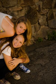 Free Two Teens Happy Smiling Royalty Free Stock Images - 20865769