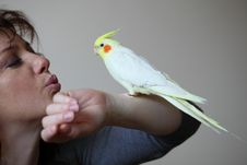 Free Parrot And Woman Stock Photography - 20866052