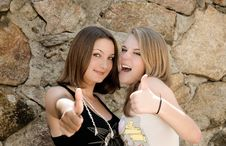 Girls Up Stock Images