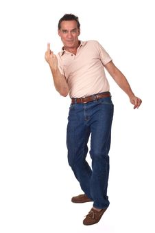 Annoyed Frustrated Man Showing Middle Finger Royalty Free Stock Photo