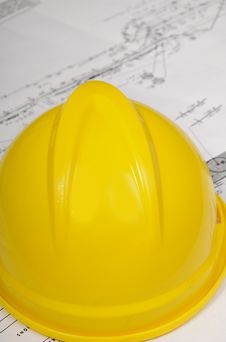 Free Hard Hat And Plan Stock Photo - 20866630