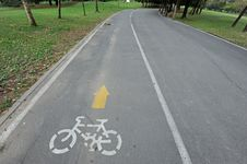 Free Bicycle Lane Stock Image - 20866751