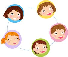 Free Kids Faces Set Royalty Free Stock Image - 20867086