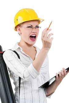 Free Girl With Hard Hat Stock Photos - 20867223