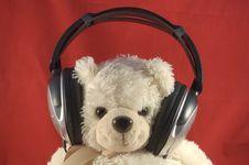 Free Teddy Bear With Headphones Stock Photo - 20867260