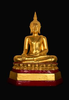 Free Golden Seated Buddha Statue Stock Photos - 20867533