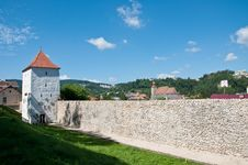 Free Medieval Defence Stone Wall And Tower Royalty Free Stock Photos - 20868058