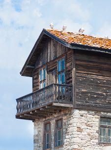 House. Bulgaria, Nessebar. Stock Photos