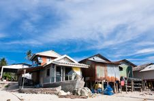 Free Fisherman Local Houses By The Beach Stock Photos - 20868233