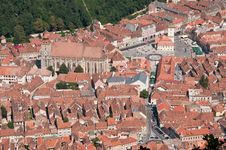 Free Old Medieval City Center From Above Royalty Free Stock Images - 20868389