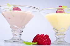Free Pudding With Himbbere Stock Photography - 20868452