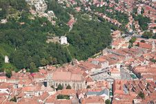 Free Aerial Shot Of Brasov Stock Images - 20868464