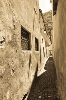 Medieval Narrow Street Stock Images