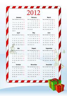 Free Vector Illustration Of European Calendar 2012 Royalty Free Stock Image - 20869166