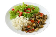 Free Boiled Rice With Vegetables Royalty Free Stock Photo - 20869635