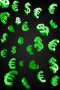 Free Green Evro And Dollar Signs Rain Royalty Free Stock Photo - 20871445