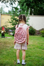 Free Young Girl With Pink Backpack Ready For School Stock Images - 20876934