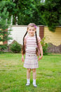 Free Young Girl With Pink Backpack Ready For School Royalty Free Stock Image - 20877076