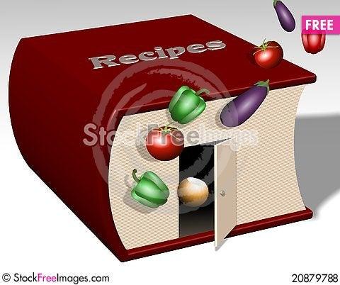 Free Recipe Book Royalty Free Stock Photos - 20879788