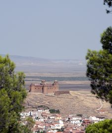 La Calahorra Castle Spain Stock Image
